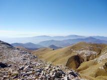 De mening van het bergketenlandschap in Griekenland Stock Fotografie