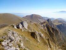 De mening van het bergketenlandschap in Griekenland Royalty-vrije Stock Foto