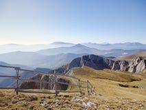 De mening van het bergketenlandschap in Griekenland Stock Afbeelding