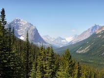 De mening van het bergketenlandschap, Nationaal Park, Canada Royalty-vrije Stock Foto's