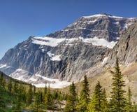 De mening van het bergketenlandschap, Nationaal Park, Canada stock foto