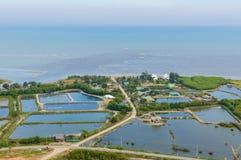 De mening van het bergketenlandschap van Khao Dang Viewpoint, Sam Roi Yod National-park, de Provincie van Phra Chaup Khi Ri Khun  Royalty-vrije Stock Foto's