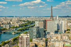 De mening van het Bird'soog van Parijs Boom op gebied Royalty-vrije Stock Foto's