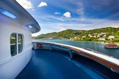 De mening van het cruiseschip royalty-vrije stock foto's