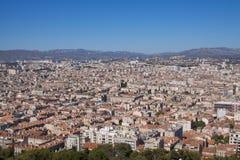 De mening van het dak van Marseille Stock Fotografie