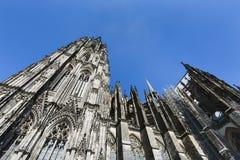 De Mening van het de Kathedraaldetail van Keulen, Duitsland Royalty-vrije Stock Afbeelding