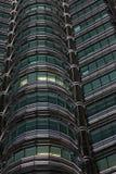 De mening van het detail van Torens Petronas stock afbeelding