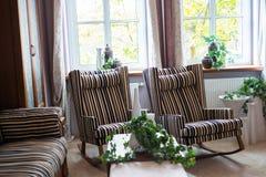 De mening van het detaildeel van woonkamer Royalty-vrije Stock Afbeeldingen