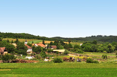 De Mening van het dorp Stock Afbeelding