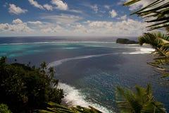 De mening van het eiland vanaf de bovenkant royalty-vrije stock foto