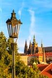 De mening van het historische kwart Hradschin in Praag stock foto's