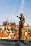 De mening van het historische kwart Hradschin in Praag royalty-vrije stock foto