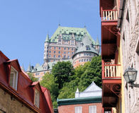 De mening van het kasteel van de stad in Royalty-vrije Stock Afbeeldingen