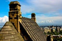 De Mening van het Kasteel van Edinburgh Stock Afbeeldingen