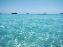 De mening van het Konnosstrand, Cyprus Royalty-vrije Stock Foto