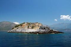 De mening van het landschap van een eiland Stock Foto's