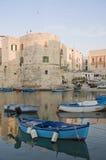 De mening van het landschap van Giovinazzo. Apulia. stock fotografie