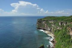 De mening van het landschap van Uluwatu Stock Foto