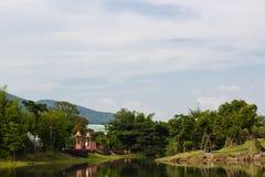 De Mening van het meer bij Openbaar Park Stock Fotografie