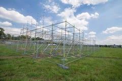 De mening van het nieuwe stadium bouwt voor de dag van de Wereldjeugd/Krakau 2016 royalty-vrije stock foto
