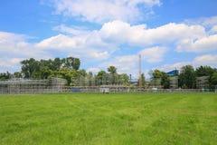 De mening van het nieuwe stadium bouwt voor de Dag van de Wereldjeugd, Krakau 2016 royalty-vrije stock foto