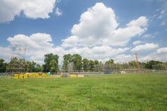 De mening van het nieuwe stadium bouwt voor de Dag van de Wereldjeugd, Krakau 2016 stock afbeeldingen