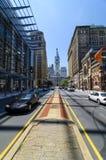 De Mening van het noordenbroadway van Stadhuis in Philadelphia Stock Fotografie