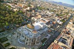 De Mening van het oog van Bird´s van Bellas Artes, Mexico-City Royalty-vrije Stock Foto's