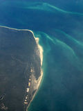 De Mening van het Oog van vogels - Fraser Eiland, Unesco, Australië royalty-vrije stock afbeeldingen