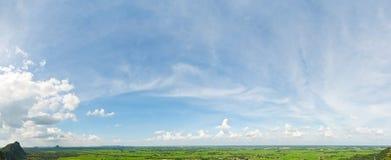De mening van het panorama over berg Royalty-vrije Stock Fotografie