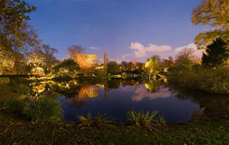 De mening van het panorama over het park Royalty-vrije Stock Afbeelding