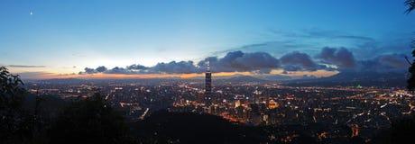 De mening van het panorama van de Stad van Taipeh Stock Foto