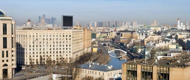 De mening van het panorama van het centrale deel van Moskou Royalty-vrije Stock Foto's