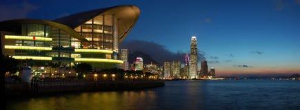 De mening van het panorama van Hongkong Royalty-vrije Stock Afbeeldingen