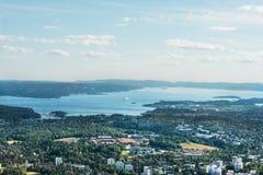 De mening van het panorama van Oslo royalty-vrije stock foto