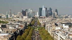 De Mening van het panorama van Parijs Stock Foto's