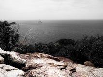 De mening van het paradijseiland van bovengenoemde berg Koh Tao Thailand Royalty-vrije Stock Foto's