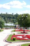De mening van het Park van Tsaritsyno, Moskou Stock Foto