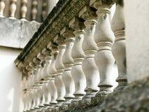 De mening van het Perspeciveclose-up van de Italiaanse balustrade van stijlpalladian stock afbeeldingen