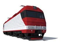 De mening van het perspectief van de moderne elektrische locomotief Royalty-vrije Stock Fotografie