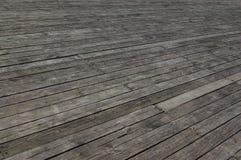 De mening van het perspectief van houten of houten textuur Stock Foto