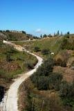De mening van het platteland, Andalusia, Spanje. Stock Foto
