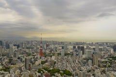 De mening van het Roppongi-gebied Roppongi is een district van Minato, Tokyo, Japan royalty-vrije stock foto