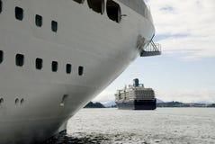 De Mening van het Schip van de cruise Royalty-vrije Stock Afbeelding