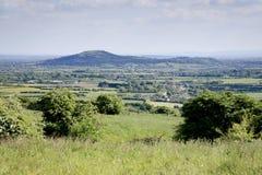De mening van het Somersetlandschap Royalty-vrije Stock Afbeeldingen