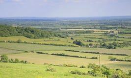 De mening van het Somersetlandschap Stock Foto's