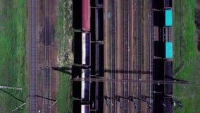 De mening van het spoorwegspoor van hierboven stock videobeelden