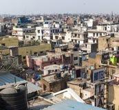 De mening van het de stadsdak van New Delhi stock afbeelding