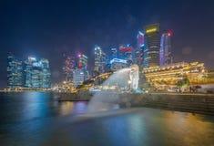 De mening van het de stadsoriëntatiepunt van Singapore in reisdistrict royalty-vrije stock fotografie