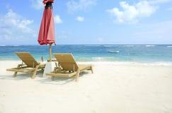 De mening van het strand Stock Fotografie